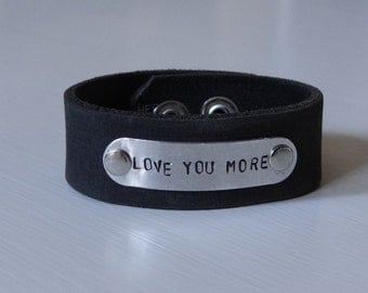 Love You More Re-inspired Leather Cuff