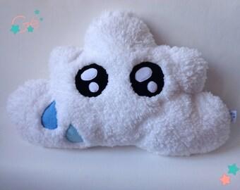Cushion white kawaii cloud plush Sheepskin