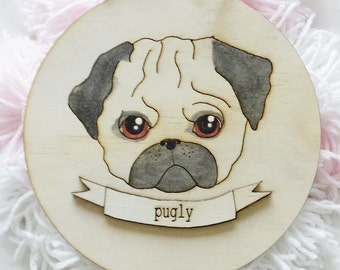 Pugly Wall Hanging