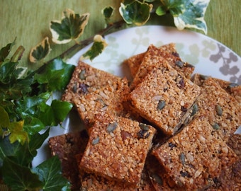 Peanut butter cereal bars vegan dairy-free, breakfast bars, flapjack