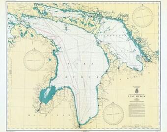 1940 Nautical Map of Lake Huron and Georgian Bay