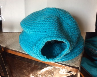 Turquoise Handmade Cat Bed