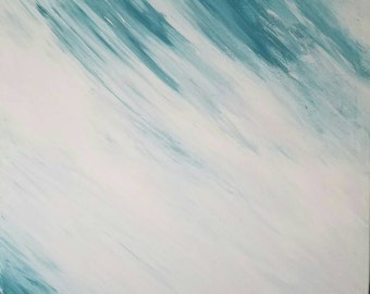 Original Abstract Painting Stretched Canvas 24x30