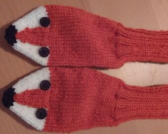 Fox childrens wool socks
