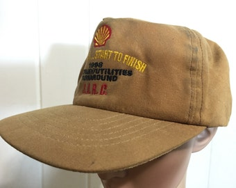90's trucker cap oiled cotton made in usa leather