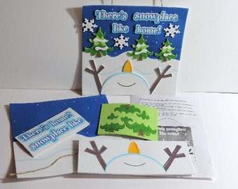 Snowman Christmas sign kit - There's Snowplace Like Home