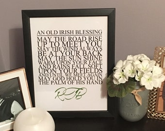 Old Irish Blessing 8x10 Digital Print | Custom Irish Blessing Print