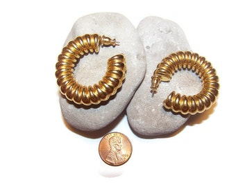 Vintage Napier Hoop Earrings Pierced Earrings Dangle Hoops Gift for her