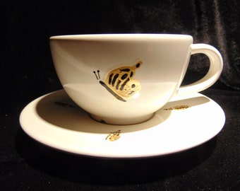 Butterfly and Cocoons Cup and Saucer Set