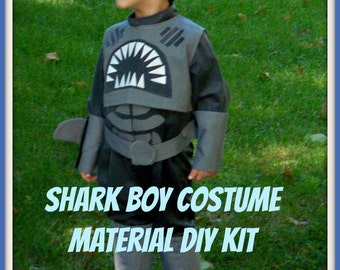 Sharkboy Costume, Shark Boy Sewing Costume Kit -  DIY Costume Kit