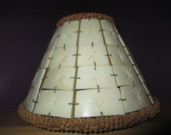 TILE COVERED LAMPSHADE