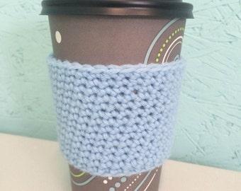 Light Blue Coffee Cozie