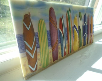 Hand-Painted Surf Boards - Resin Wall Hanger