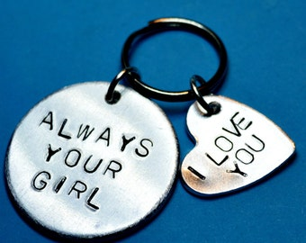 Boyfriend gift, Valentines Day gift for him, Always your girl keychain, Husband gift, wedding gift, Gifts for men, anniversary gift