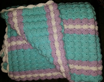 Puff Stitch Baby Blanket - Any Color Scheme