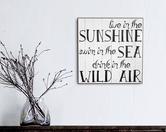 Live In The Sunshine, Rustic Farm sign, Shabby Chic Handmade Signs, Christmas Gift Idea, My Vintage Farmhouse, Housewarming Gift