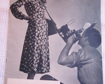 30s Catalog Paper Vintage Clothing Vogue 1937 Women's Fashion First Clothing Livingston Bros. Emphemera