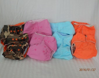 Pocket Cloth Diaper cover/Size Adjustable