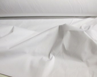 "White 96""  Wide Polycotton Lining Fabric. Price Per Metre."