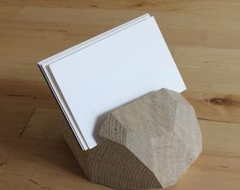 Solid Fig / Business Card Holder / Handmade