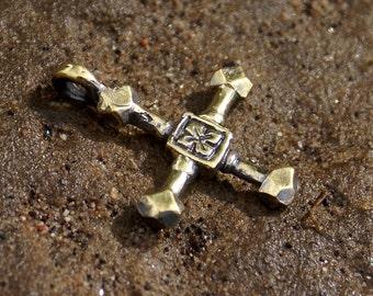 Pendant Cross Sweden 12-13 century Medieval jewelry Medieval cross