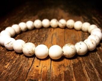 White turquoise bracelet,mans turquoise bracelet,gemstone bracelet,turquoise bracelet,mala jasper bracelet,yoga bracelet,raw turquoise brace