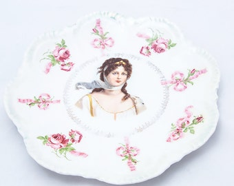 1890's Queen Louise of Prussia Porcelain Plate