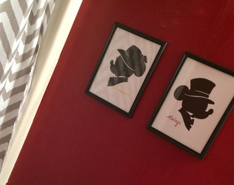 Custom 8x10 Minnie Mouse Silhouette