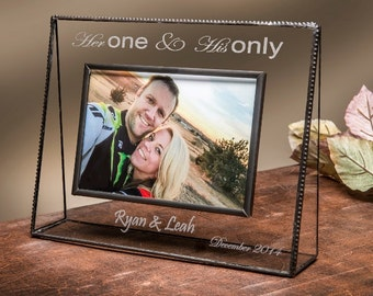 Personalized Picture Frame Her One & His Only-J. Devlin Pic 319 Series 4x6, 5x7 or 8x10 Horizontal or Vertical