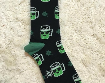 Green Beer Power Socks