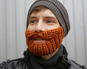 Fast Shipping! Hat Beard Hat Crochet Hat Knitted Hat Handmade Winter Hat  Face Warmer Funny Hat Ski Hat, Valentine's Day gift
