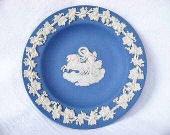 Vintage Wedgwood Blue Jasperware Pin Dish