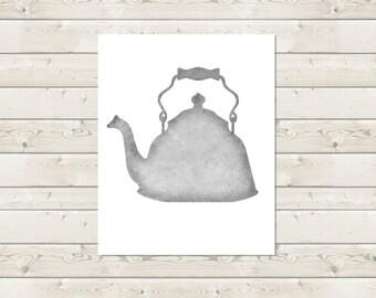 Teapot Kitchen Wall Art -- Digital Print -- Instant Download