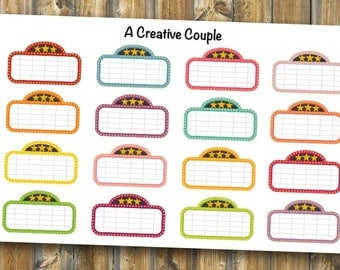 Movie Marquee Planner Stickers