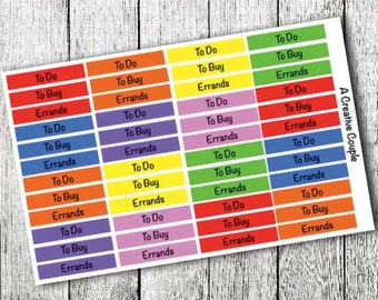 Daily Label Planner Stickers