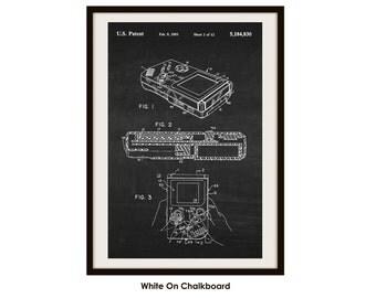 Gameboy Patent Art Poster Print (Not Framed)