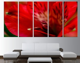 flower wall art canvas, lily canvas wall art, extra Large wall Art, large canvas print, art for large wall, modern wall decor t198