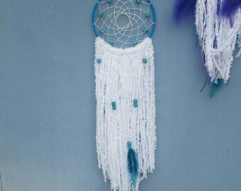 Dream Catcher- Blue & White with beads