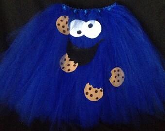 Cookie Monster Tutu costume with matching headband