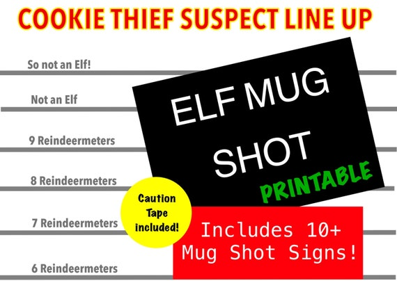 Mug Shot for Elves Printable