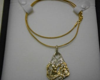 Sterling Silver 925 gold lacquer