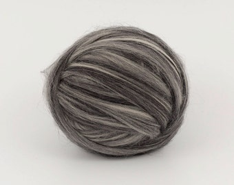 LightMelange B108, 1.78oz (50gr) 26mic merino felting wool, for needle felting, wet felting, spinning. 100% wool.