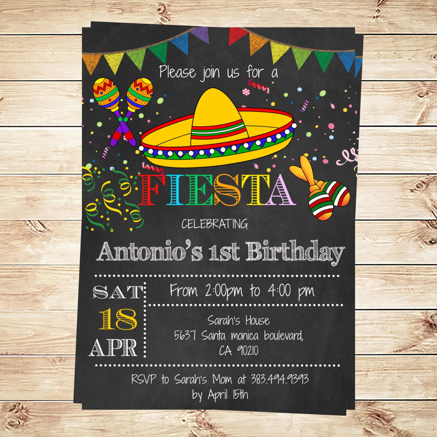 birthday mexican fiesta party invitations printable, invitation samples