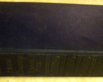 1947 Home Country by Ernie Pyle Book, Vintage Hand cut pages - Hardcover