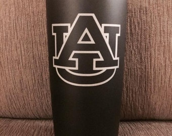 20oz Matte Black Etched Stainless Steel Tumbler