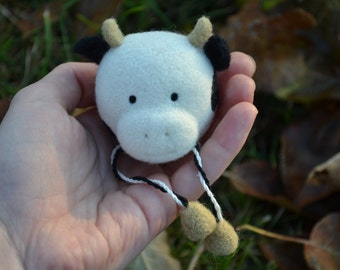 SUMMER SALE!!! 40% off with a coupon code SUM17MER!!! Needle Felted Cow OOAK