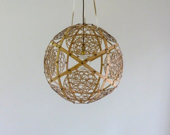 MAVI natural spherical pendant light....free delivery within Melbourne