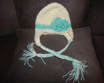 Infant Earflap Flower Hat