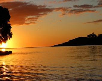 Sunset in Raglan