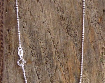"""18"""" Ball Chain UK 925 Sterling Silver"""